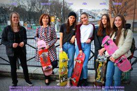 La Ministre Laurence Rossignol rencontre des skateuses-image