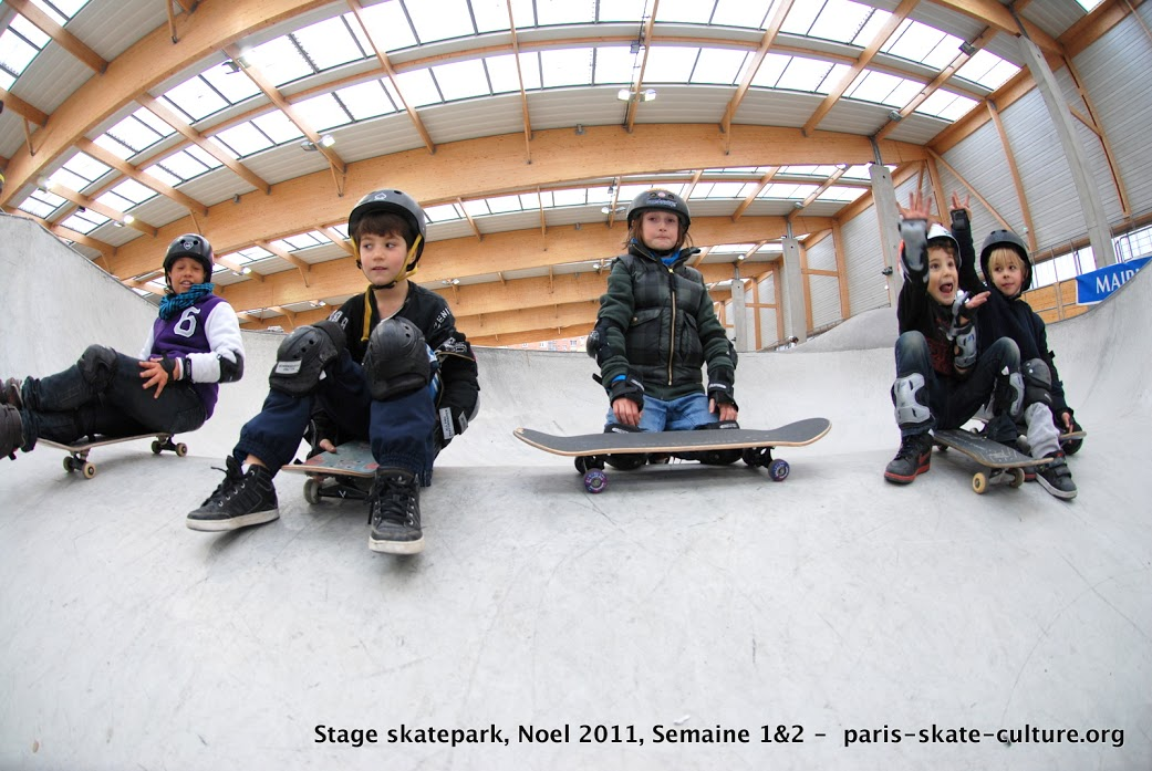 Stage skatepark Noel 2011. Paris Skate Culture-image
