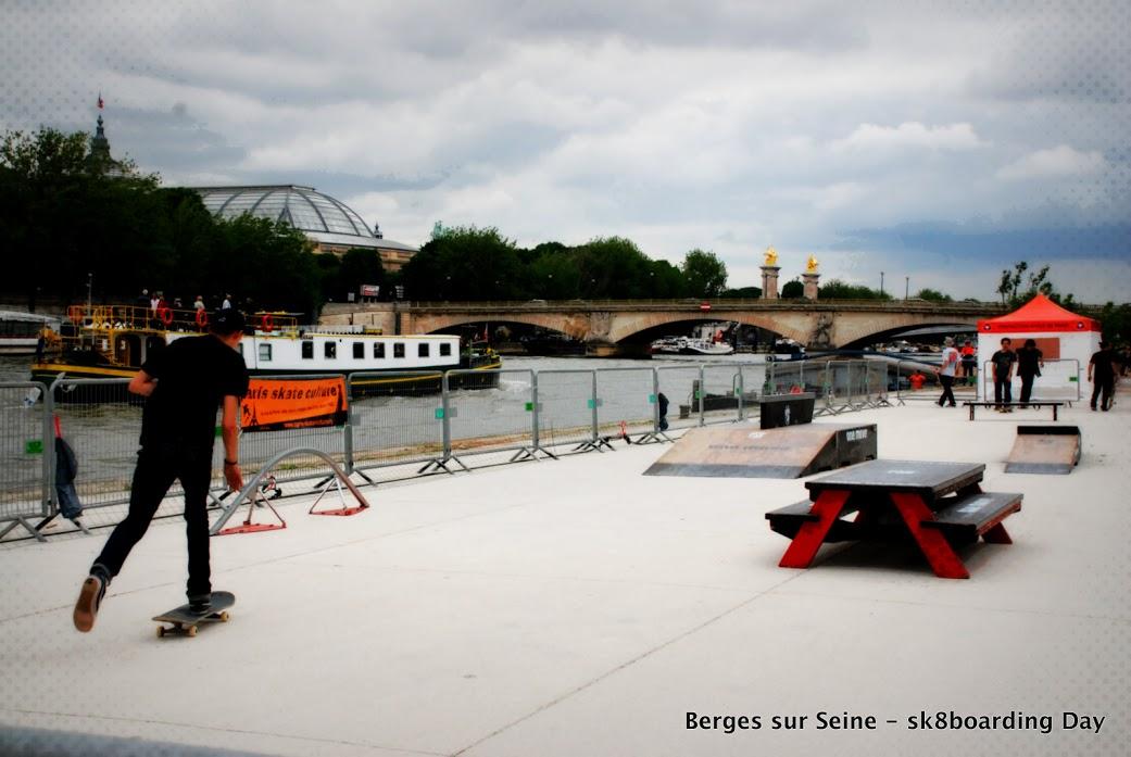 Berges de Seine mini rampe prepa et inauguration-image