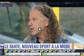 Interview BFM Paris TV about skateboarding in Paris & 2024-image
